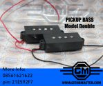 1set 4 String Noiseless Pickup Black for Precision P Bass Replacement